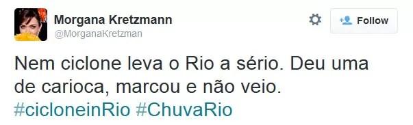 Chuva no Rio 3 (Foto: Reprodução/Twitter)