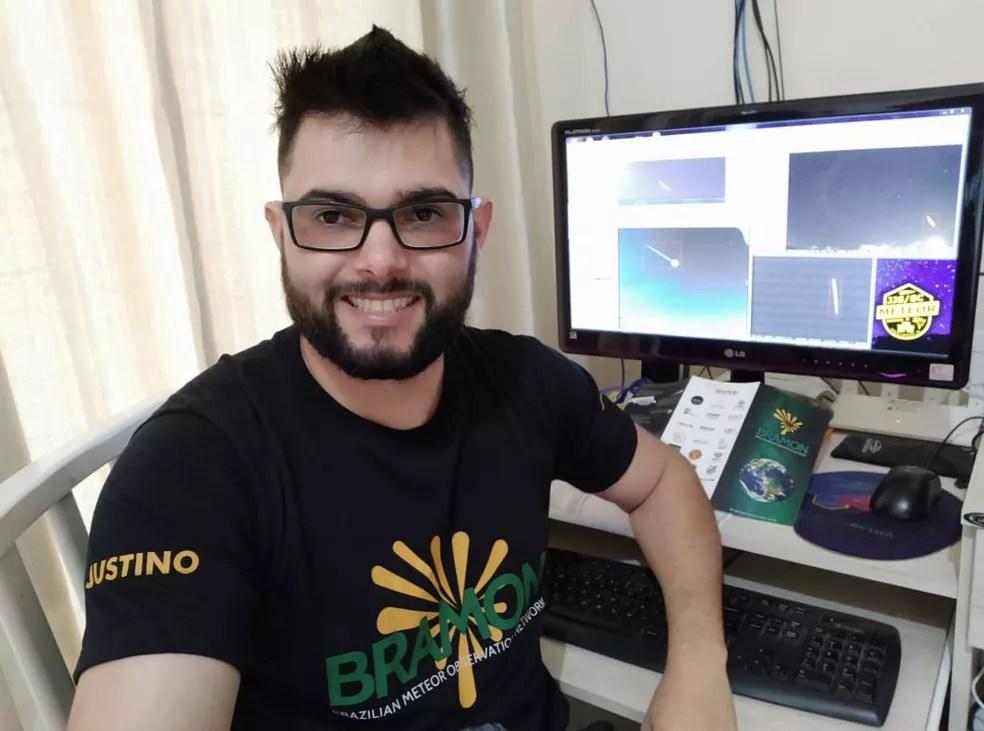 Jocimar monitora através de 5 câmeras os meteoros em Monte Castelo (SC) — Foto: Jocimar Justino/Arquivo Pessoal