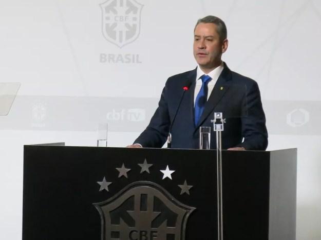Candidato único na eleição, Rogério Caboclo é eleito presidente da CBF