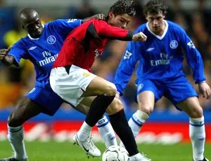 Cristiano ronaldo manchester united makelele chelsea 2003 (Foto: Agência Getty Images)