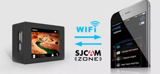 Câmera de ação SJ5000 pode ser controlada via app para celular e Wi-Fi (Foto: Divulgação/SJCAM)