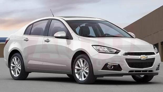 Projeção exclusiva mostra que próxima geração do Chevrolet Cruze terá linhas mais fluidas (Foto: Renato Aspromonte/Autoesporte)