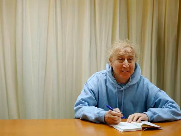 Gene Wilder em 2008, em sessão de autógrafos de seu livro 'The Woman Who Wouldn't' (Foto: REUTERS/Lucas Jackson)