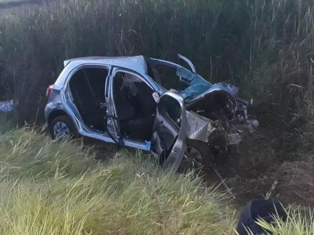 Causas do acidente são investigadas pela polícia; os dois condutores morreram  (Foto: João Trentini / Arquivo pessoal )