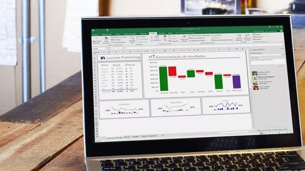 É possível criar planilhas, tabelas e relatórios usando programas gratuitos — Foto: Divulgação/Microsoft