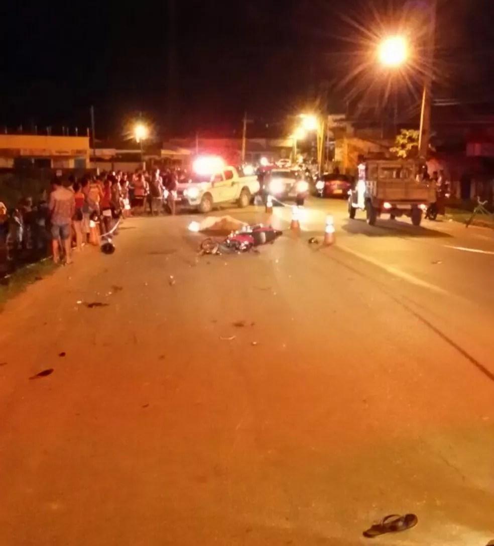 Homem morreu após colisão entre motocicletas em Sena Madureira  (Foto: Divulgação/Corpo de Bombeiros)