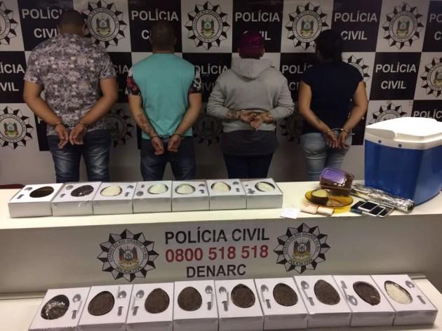 Suspeitos foram presos e encaminhados para o sistema prisional — Foto: Divulgação/Polícia Civil