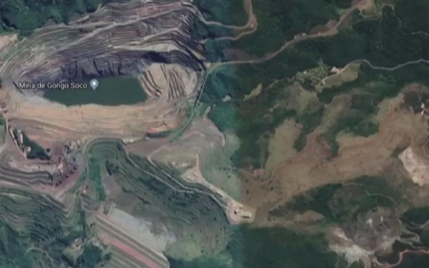 Imagem aérea da Minas Gongo Soco, em Barão de Cocais — Foto: Google/Reprodução
