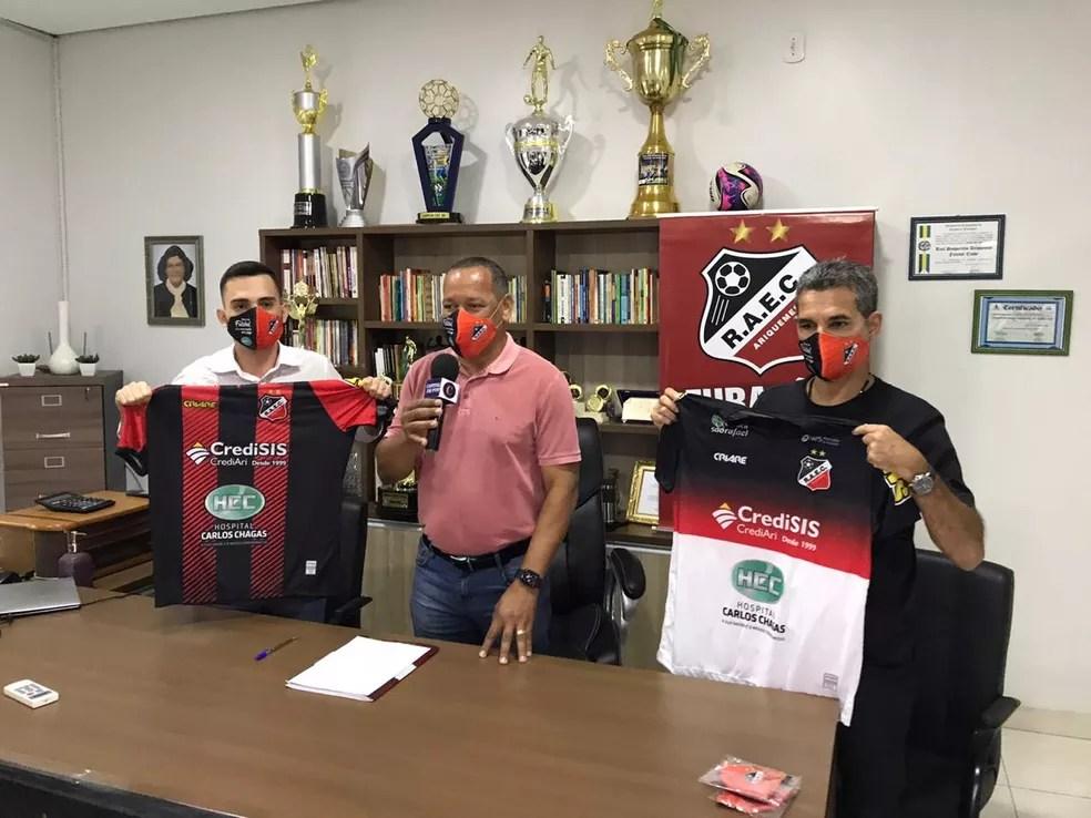 Real Ariquemes apresenta novo técnico e novo gerente de futebol  — Foto: Divulgação