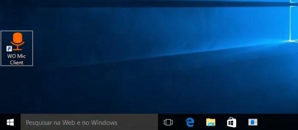 Executando o app Wo Mic Client no Windows (Foto: Reprodução/Edivaldo Brito)