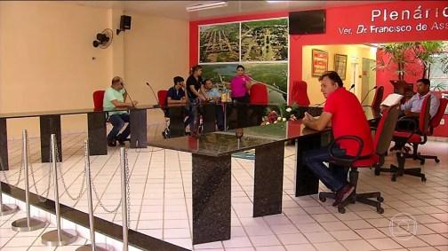 Votação realizada nesta terça-feira (16) modificou regimento de trabalho na Câmara dos Vereadores de Poço Branco  (Foto: TV Globo)