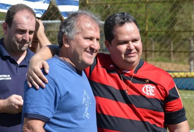 Zico esteve em Taubaté nessa terça-feira, 11, para prestigiar as finais da Copa Zico (Foto: Danilo Sardinha/GloboEsporte.com)