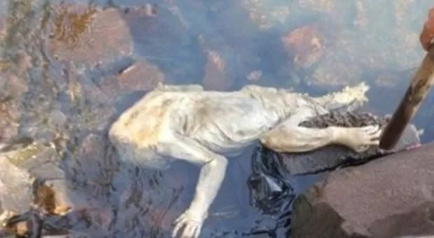 riatura estranha foi encontrada nas margens do rio Paraná na cidade de Carmen del Paraná (Foto: Reprodução/Facebook)