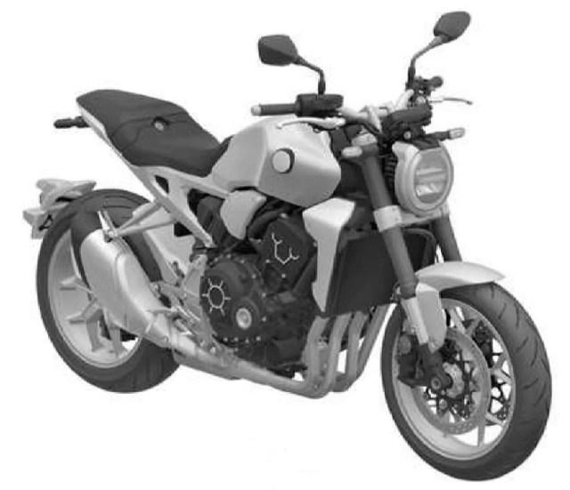 Patente da Honda CB 1000R registrada no Brasil (Foto: Inpi)