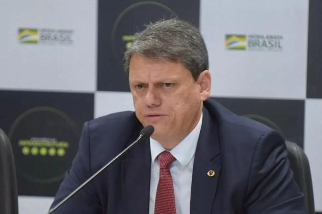 O ministro da Infraestrutura, Tarcisio Gomes de Freitas — Foto: Ricardo Botelho/Minfra