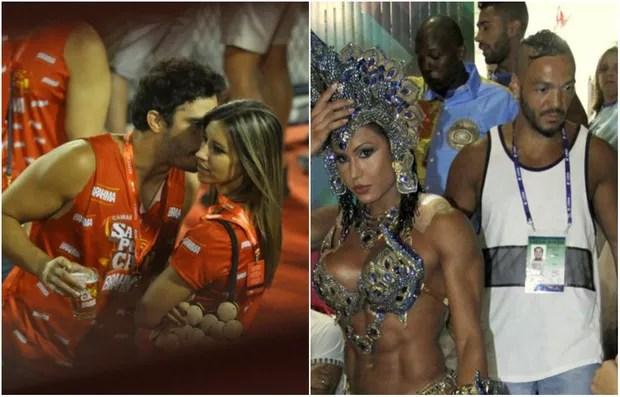 Thiago Rodrigues, Cristiane Dias, Gracyanne Barbosa e Belo (Foto: EGO)