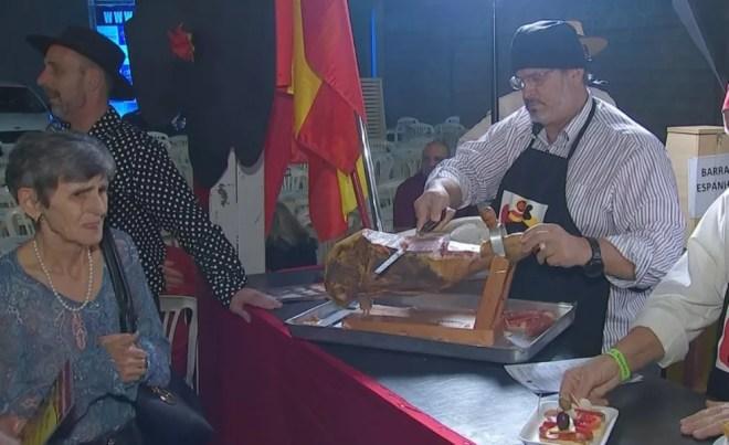 Barraca espanhola é uma das atrações da Festa das Nações em Rio Preto — Foto: Reprodução/TV TEM