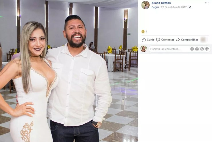 A testemunha contou que, ao chegar ao quarto, Edison Brittes também deu tapas no rosto da mulher — Foto: Reprodução/Facebook
