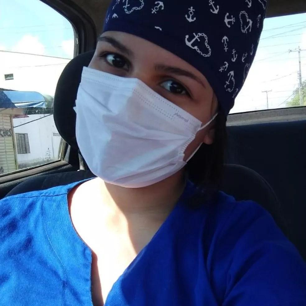 Larissa Luana Clara Castilho, de 22 anos, fisioterapeuta em RO — Foto: Reprodução/WhatsApp