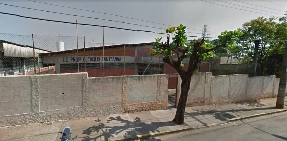 Agressão contra o professor de história e geografia aconteceu na escola estadual Otacílio Sant'anna, em Lins — Foto: Reprodução/Google Street View