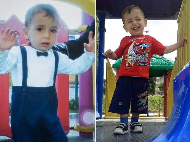 Aylan Kurdi em fotos mostradas por sua tia, que mora no Canadá (Foto: Cortesia de Tima Kurdi/The Canadian Press via AP)