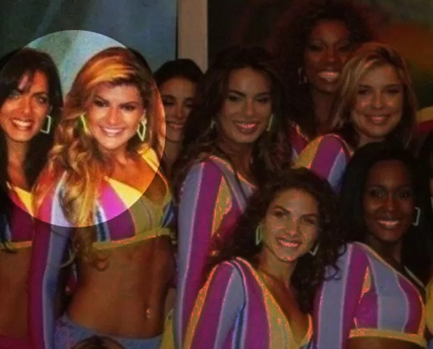 Mirella Santos chegou a ser bailarina junto com Carla! Olha as duas juntas na foto! (Foto: Arquivo Pessoal)