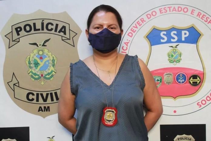 delegada Acácia Pacheco, titular da Delegacia Especializada em Crimes Contra a Mulher (DECCM) — Foto: Eliana Nascimento/G1 AM