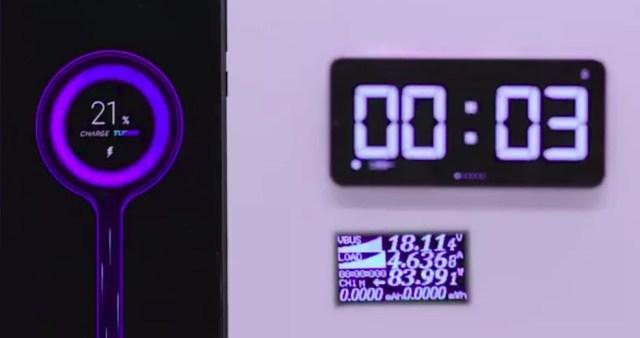 Carregador de 100 watts da Xiaomi é o mais potente do mundo atualmente — Foto: Reprodução/Weibo