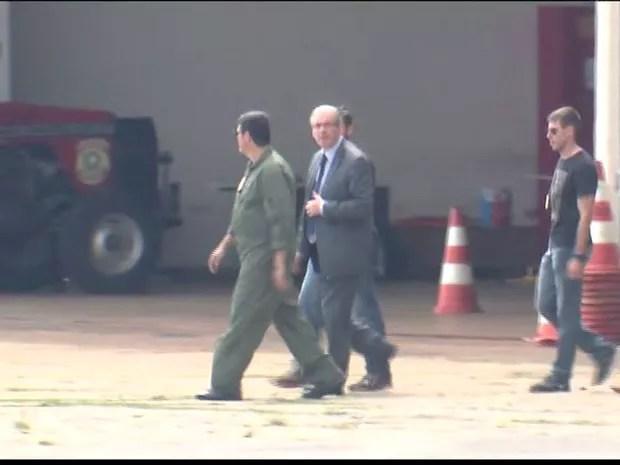 Eduardo Cunha é preso na Lava-Jato (Foto: reprodução GloboNews)