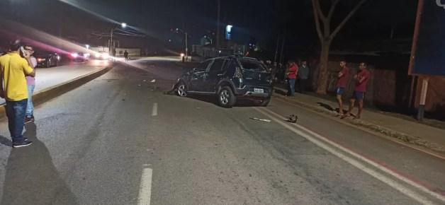Motorista sem habilitação perde controle de carro, invade contramão e mata motocilista em Rio Branco — Foto: Arquivo/BPTrans
