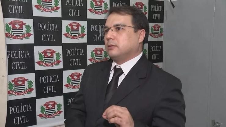 Delegado Marcos Jeferson comanda as investigações: três delitos (Foto: Reprodução / TV TEM)