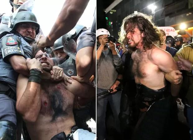 Rafael Marques Lusvarghi, detido no protesto no dia 12 de junho e nesta segunda (23) na Avenida Paulista