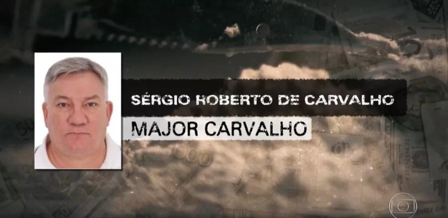 Major Carvalho trabalhou por dezesseis anos na Polícia Militar de Mato Grosso do Sul — Foto: TV Globo/Reprodução