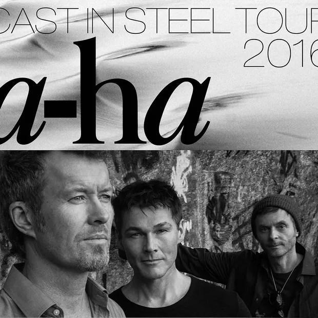 Cartaz da turnê do A-ha: parceria com a Hydro para shows e workshops no Pará (Foto: Divulgação)