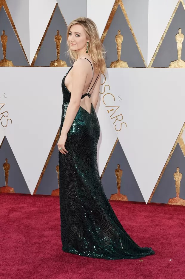 Saoirse Ronan no Oscar 2016 (Foto: AFP)