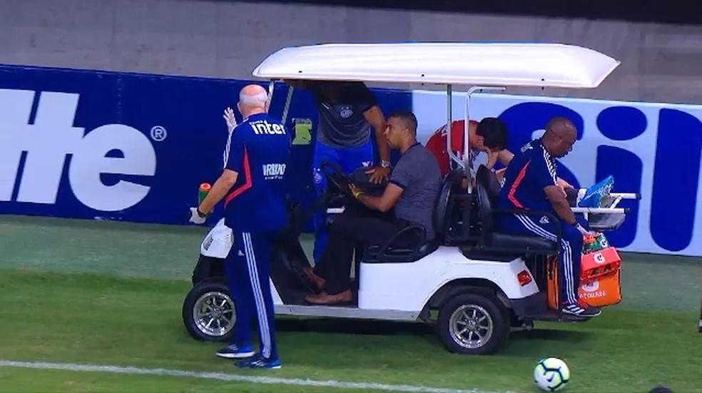 Pablo se lesiona contra o Bahia e preocupa o São Paulo — Foto: Reprodução