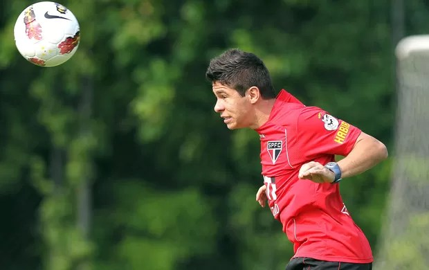 Osvaldo, treino do São Paulo (Foto: Vipcomm)