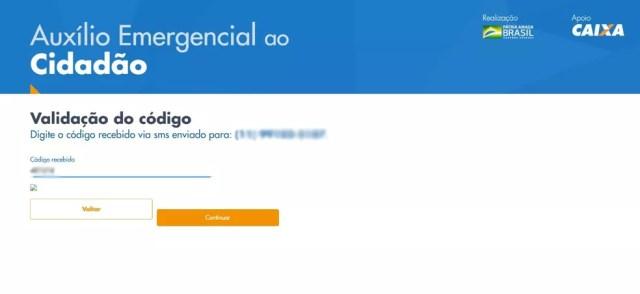 Página seguinte que o trabalhador informal deve preencher no site da Caixa para ter direito ao auxílio emergencial — Foto: Reprodução