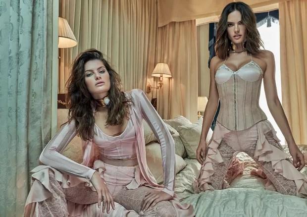 Ale Ambrosio e Isabeli Fontana na Vogue de outubro (Foto: Mariano Vivanco)