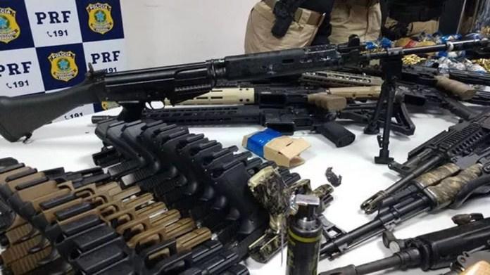 Ação fez parte da operação Égide, da PRF, que visa reforçar o policiamento nas rodovias federais do estado do Rio (Foto: Divulgação)