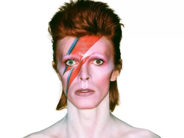 David Bowie em foto do disco 'Aladdin Sane' (Foto: Divulgação)