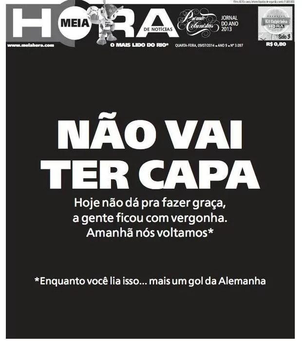 Capa jornal Meia Hora - 9 de julho (Foto: reprodução)
