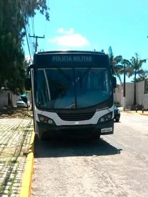 Vítima do assaltado é motorista de ônibus da PM  (Foto: Marksuel Figueiredo/Inter TV Cabugi)