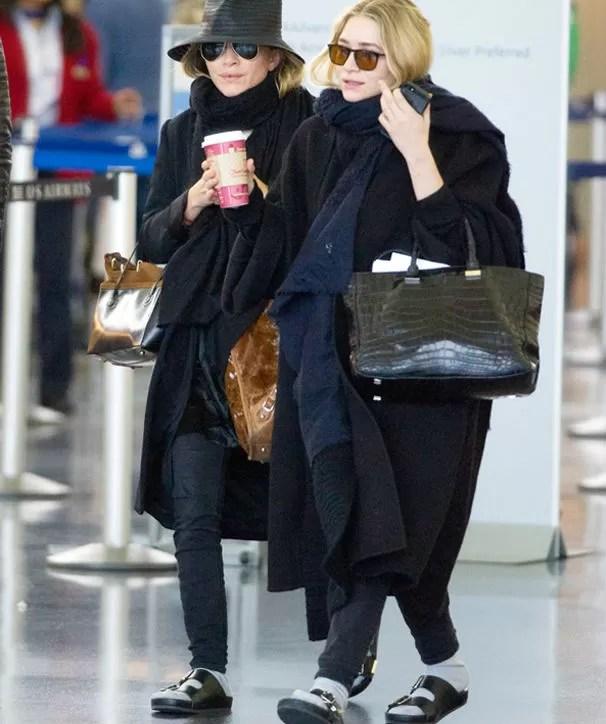 Para as guapas: Mary Kate e Ashley olsen são as maiores referências no estilo. Vão copiar, meninas? (Foto: Reprodução/Instagram)