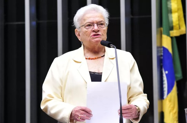 A deputada Luiza Erundina (PSOL-SP) — Foto: Luis Macedo/Câmara dos Deputados