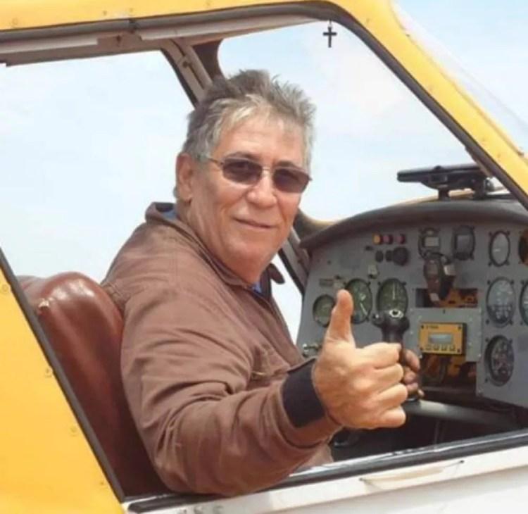 Valmir Nogueira Moreira, de 63 anos, está desaparecido ao decolar de MT para MS — Foto: Arquivo pessoal