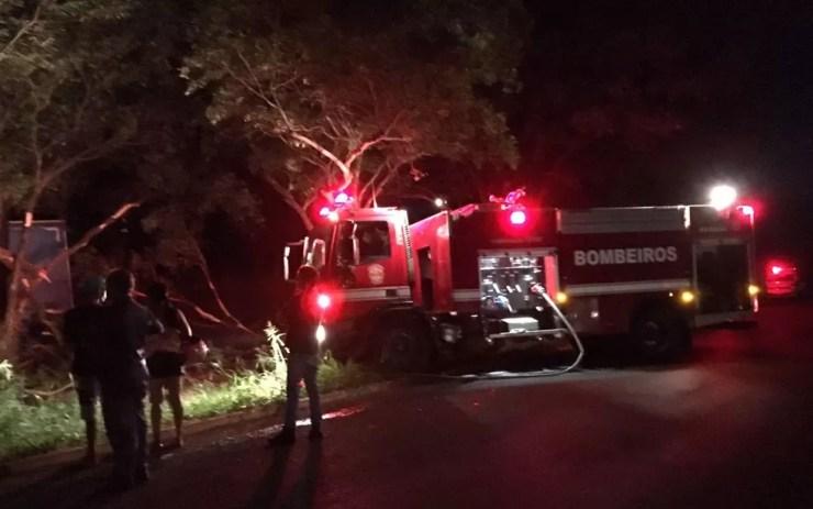 Motorista foi socorrido pelo Corpo de Bombeiros (Foto: Arquivo Pessoal)