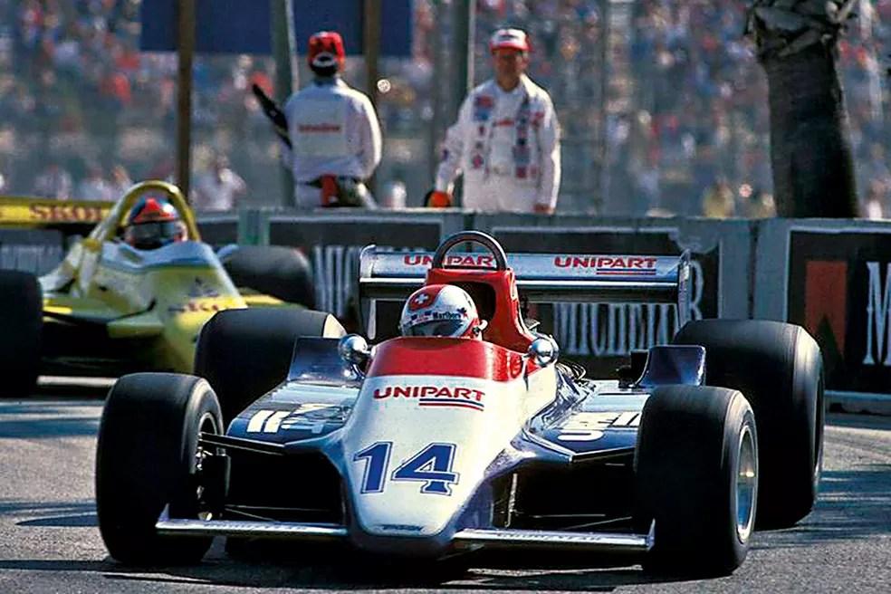 Clay Regazzoni pouco antes de se acidentar em Long Beach, em 1980 — Foto: Reprodução/rede social