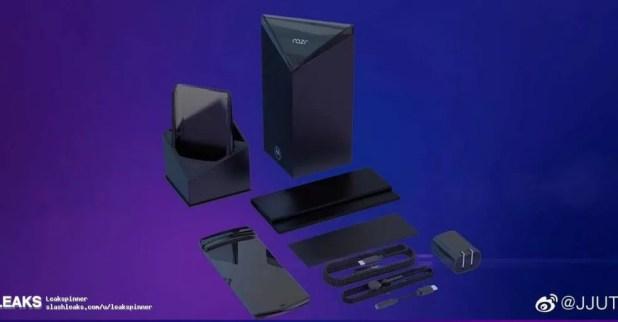 Imagem que vazou dos acessórios do suposto RAZR dobrável da Motorola — Foto: Reprodução/Slashleaks