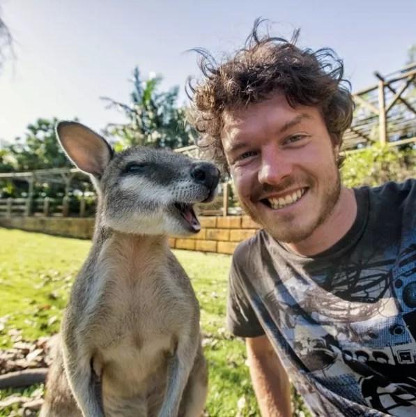 Um autorretrato com animal típico da Austrália